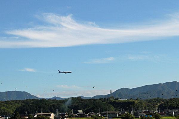 公渕公園の上高松空港へ高度を下げながら・・